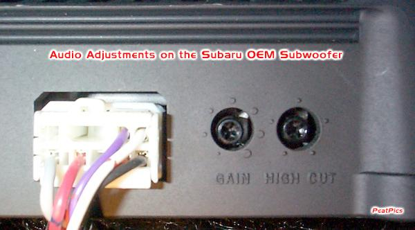Oem under seat sub question subaru forester